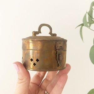 Copper Small Trinket Box Storage Boho Decor